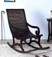 wellesley solid wood rocking chair in warm chestnut finish