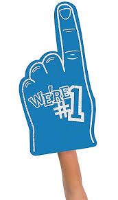 Team Foam Prices 1 Hand At Cheerleading Color Buy Amazon We're Low Number - Fx Online Finger blue In India in