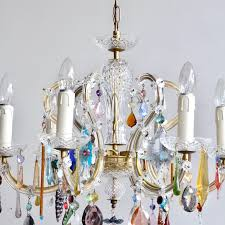 french glass marie thérèse chandelier with multicolored drops for at 1stdibs