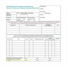 Blank Medical Chart Patient Medication Chart Sample Www Bedowntowndaytona Com