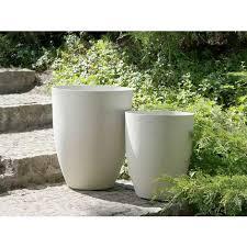 set of 2 tall plant pots gardening