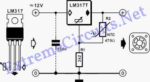 pc fan speed controller for a low noise pc eeweb community circuit diagram lm317