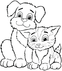 coloring templates for kids. Exellent Templates Printable Coloring Pages Free Animals Animal   Cats And Dogs  To Coloring Templates For Kids C