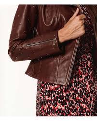 karen millen multicolor studded leather jacket lyst