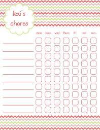 Printable Chore Chart Girls Chevron Crazy About Chevron