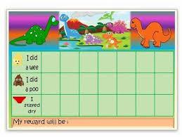 Dinosaur Potty Training Reward Chart Potty Training Reward Chart Personalised Girls Boys Free