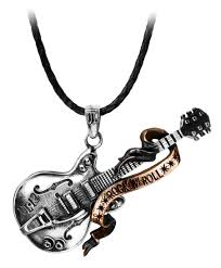 Steel Guitar Rock 'n' Roll Heavy Metal Pendant Alchemy Gothic