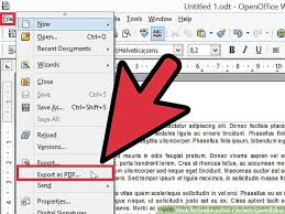 How To Create A Pdf File With Openoffice 7 Steps With Pictures