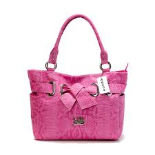 Coach Embossed Bowknot Signature Medium Pink Totes DDT