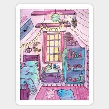 witchy bedroom witch sticker