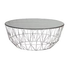 life interiors studio wire glass coffee table white modern coffee tables for your living room or in