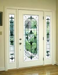 stained glass entry doors glass front doors white door with art house ideas leaded glass front