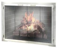 door represents personality kind hottest trends market modern fireplace contemporary brushed nickel