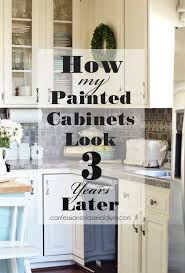 painted kitchen cabinets three years later