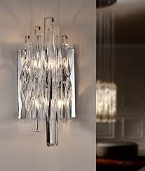 Small Picture Swirl Crystal Glass Wall Light