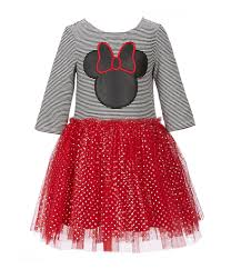 Pippa And Julie Size Chart Disney X Pippa Julie Little Girls 2t 6x Striped Minnie Mouse Tutu Dress Dillards