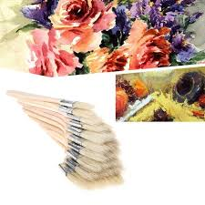 wooden oil painting brush artist acrylic watercolor gouache panit art supplies paint brushes painting supplies