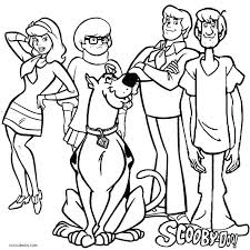 Small Picture Printable Scooby Doo Coloring Pages For Kids Cool2bKids