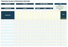Blank Attendance Chart Template Record Printable Sheet – Clicktips.info