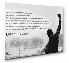 image is loading rocky balboa inspirational quote canvas wall art print  on inspirational quote canvas wall art with rocky balboa inspirational quote canvas wall art print size a1 51 x