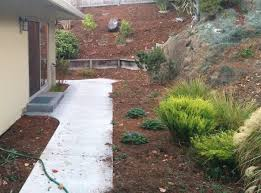 before the flagstone patio