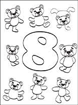 Small Picture Number 8 Eight coloring page Coloring pages