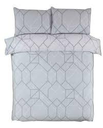 hive grey ombré geometric single duvet
