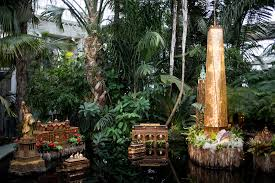 the final display of the new york botanical garden s holiday train show pays tribute to lower