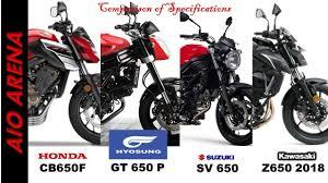 2018 suzuki sv650. Perfect 2018 Honda CB650F VS Hyosung GT 650 P Suzuki SV Kawasaki Z650 2018Best  650cc Bikes To 2018 Suzuki Sv650 E