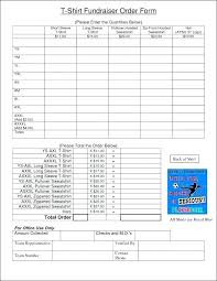 Fundraiser Form Templates Fundraising Template