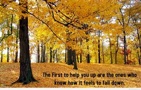 autumn first day quote with inspiring picture