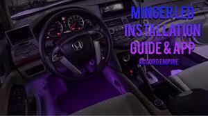 minger car interior light strip installation guide and app control