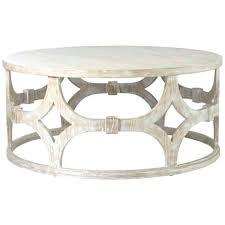 round whitewash coffee table whitewashed full