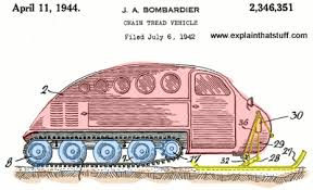how do snowmobiles work explain that stuff side view of the early bombardier snowmobile from 11 1944