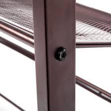 cu alightup 3 tier stackable metal mesh shoe rack slant adjule utility shoe storage organizer