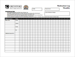 11 Medication Chart Template Free Sample Example Format