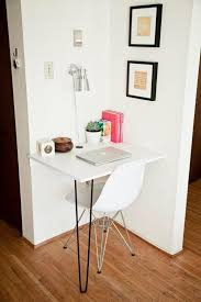 Tiny home office Organized Altinkilcom Small Space Home Office Solutions The Everygirl