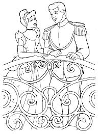 Disegni Da Colorare Per Bambini Cenerentola E Il Principe