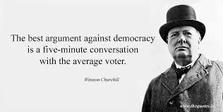 the best argument against democracy is a five minute conversation winston churchill quotes 3