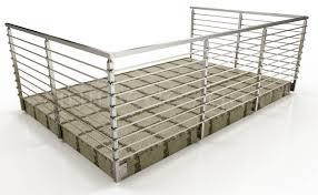 42 high fascia mount railing bar systems square 42 fascia mount
