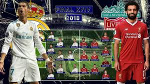 FINAL!! PREDICTED LINEUP REAL MADRID VS LIVERPOOL UEFA CHAMPIONS LEAGUE  KYIV 2018 - YouTube