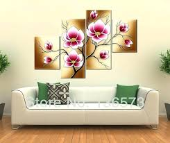 >bright canvas wall art large floral wall art large canvas wall art  bright canvas wall art large floral wall art large canvas wall art handmade bright pink flower oil painting large canvas art cheap modern abstract 4 piece