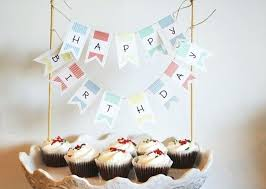 Small Banner Template Free Printable Happy Birthday Mini Cake