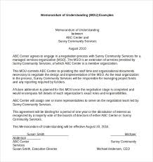Free Memorandum Of Understanding Template Agreement Recommended 12