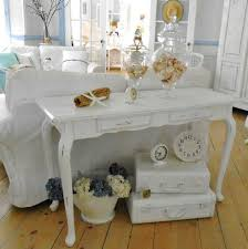shabby chic paint colorsWooden shabby chic sofa table with white paint color  Home