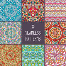 Boho Patterns Stunning Boho Style Patterns Collection Vector Free Download