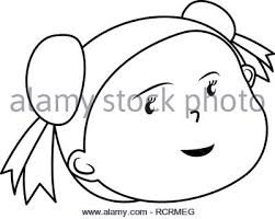 Illustration Of Beautiful Young Girl Face With Long Hair Flowers