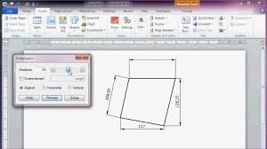 office drawing tools. 1920x1080 CAD Like Dimensioning In Microsoft Office Word 2010 Drawing Tools F
