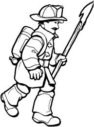 Small Picture Free Printable Firefighter Coloring Pages For Kids