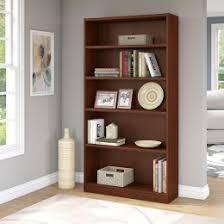 Mahogany finish home office corner shelf Desk Cherry Hayneedle Bookcases Bookshelves Hayneedle